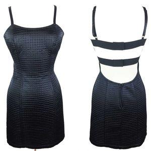 Vtg Morbid Threads Black Backless Bondage Dress S